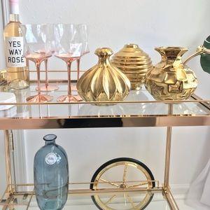 Decorative Gold Vase Set